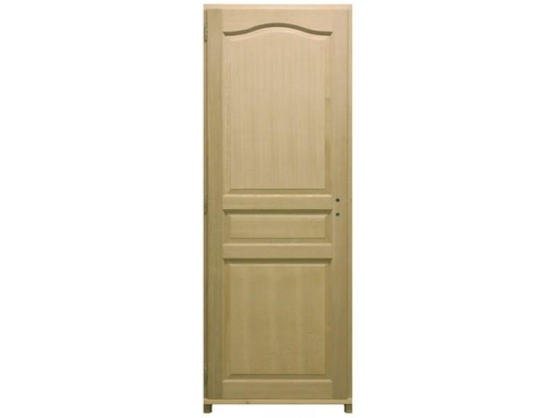 bloc porte plaqu ch ne 3 panneaux h204xl73cm poussant droit. Black Bedroom Furniture Sets. Home Design Ideas