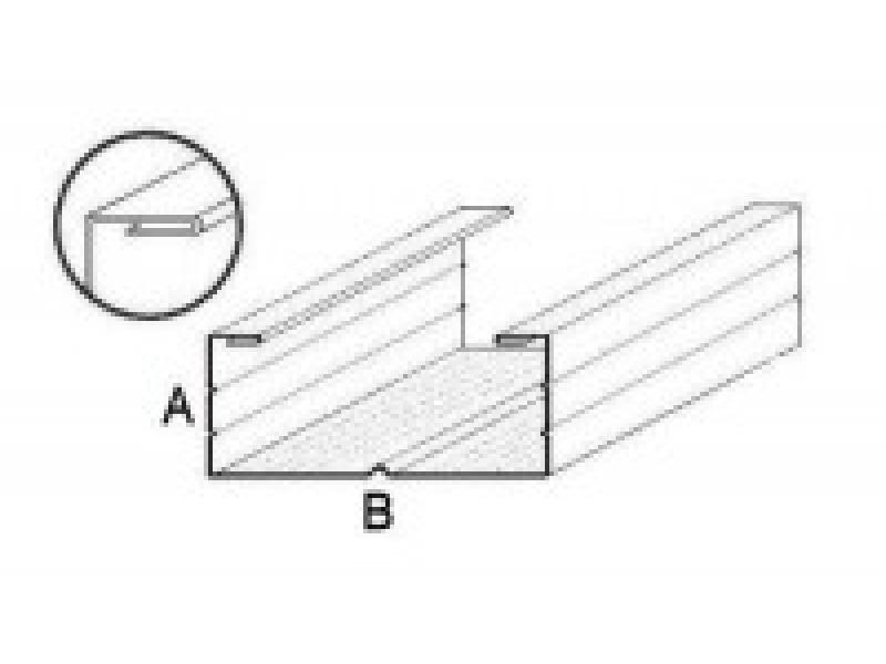 fourrure plafond f48 longueur 3m. Black Bedroom Furniture Sets. Home Design Ideas