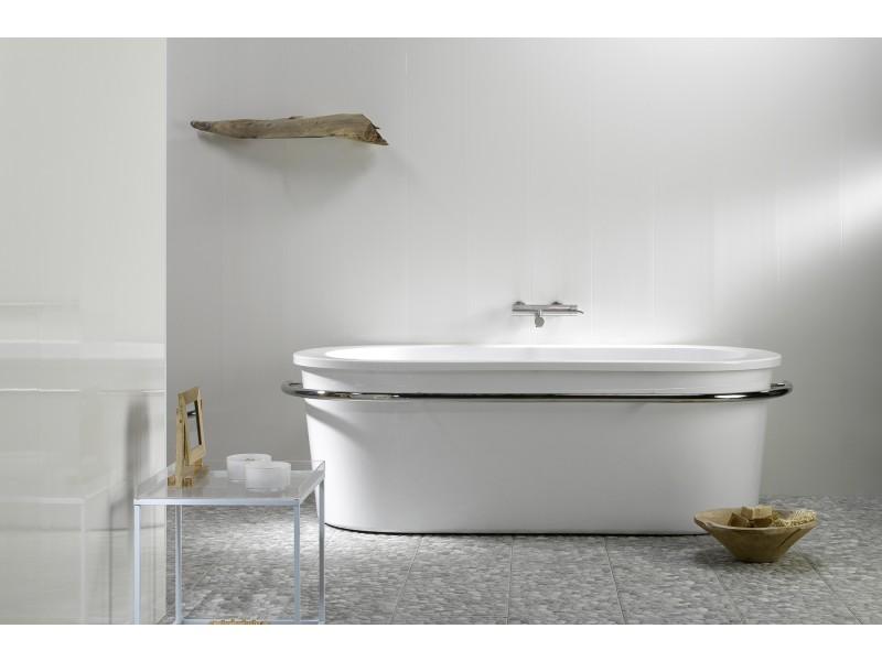 lambris pvc blanc longueur 4 m. Black Bedroom Furniture Sets. Home Design Ideas