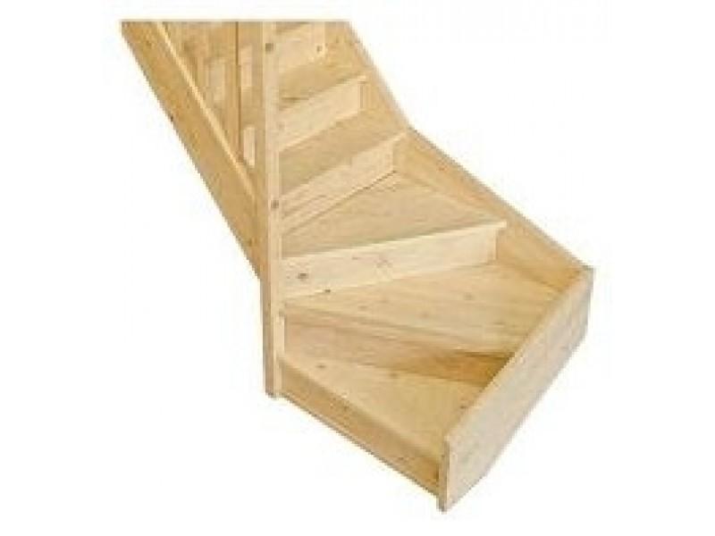 escalier 1 4 tournant bas gauche en sapin pas cher achat. Black Bedroom Furniture Sets. Home Design Ideas