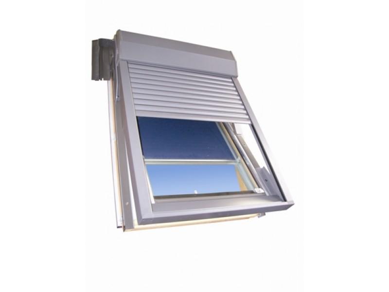 volet lectrique pour fen tre de toit h98xl78cm pas cher. Black Bedroom Furniture Sets. Home Design Ideas