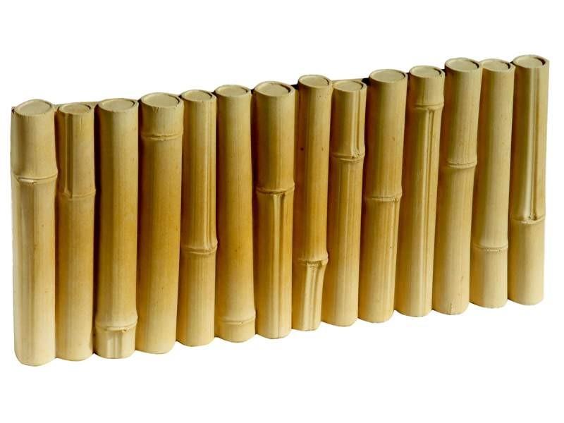 bordure b ton imitation bambou pas cher achat vente en. Black Bedroom Furniture Sets. Home Design Ideas