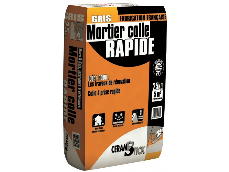 Mortier colle carrelage rapide c2 f 25 kg for Mortier colle carrelage