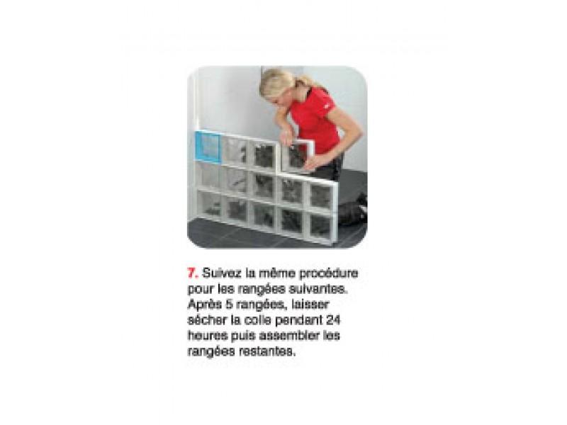 Kit blocklock 5x10 briques de verre for Block lock brique de verre