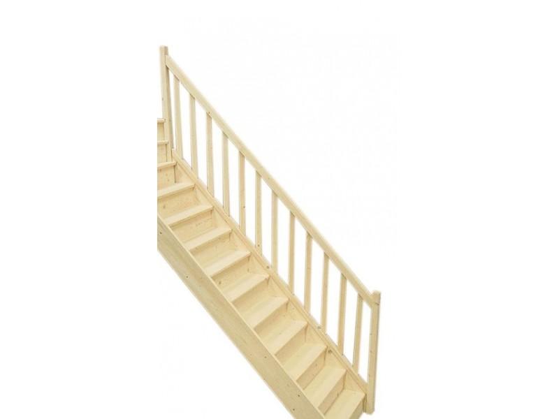 rampe pour escalier droit en sapin. Black Bedroom Furniture Sets. Home Design Ideas