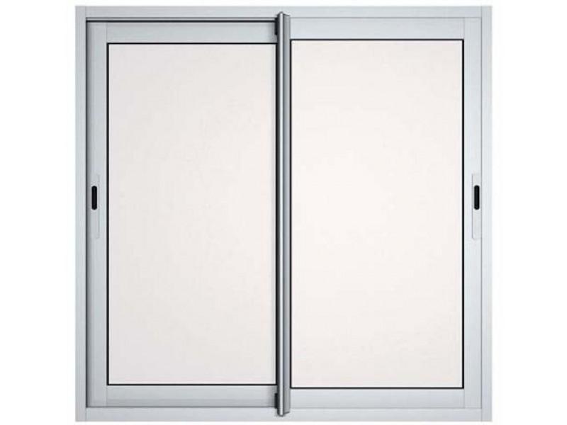 Fenêtres Coulissantes En Aluminium H115 L140 Laqué Blanc Pas Cher