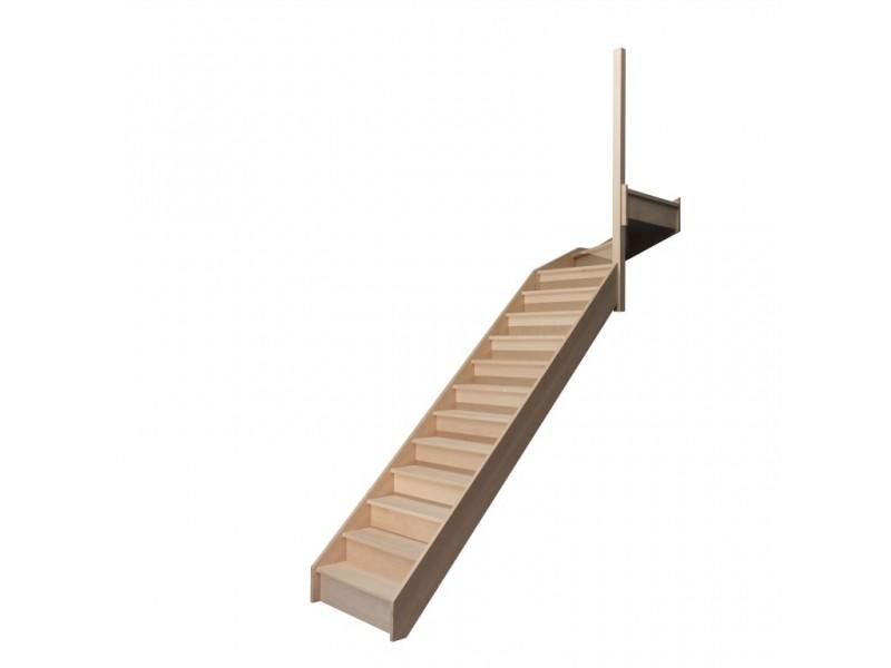 escalier quart tournant haut droit en h tre avec contre marches sans rampe hauteur 280 cm. Black Bedroom Furniture Sets. Home Design Ideas