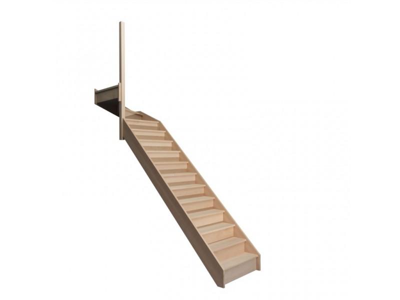 escalier quart tournant haut gauche en h tre avec contre. Black Bedroom Furniture Sets. Home Design Ideas