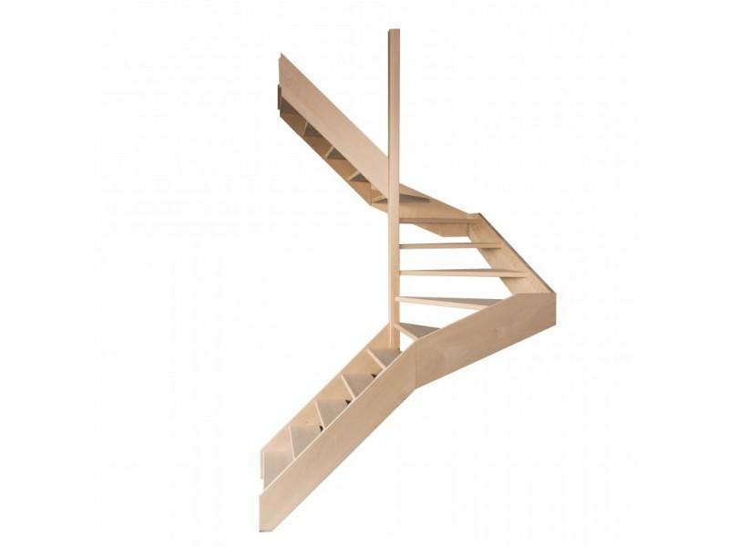 escalier demi tournant en h tre sans contre marches sans rampe hauteur 272 cm. Black Bedroom Furniture Sets. Home Design Ideas