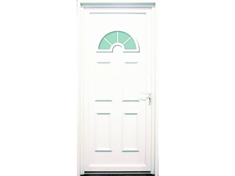 Porte d entr e en pvc blanc 215 x 090 cm demi lune tarn - Blanche porte adresse relais ...