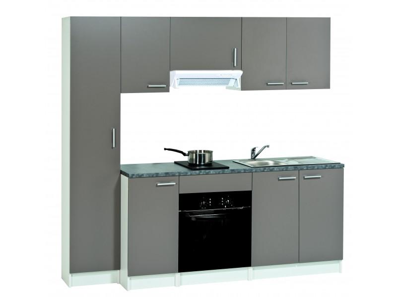 meuble de cuisine bas 2 tiroirs casseroliers mod le first basalte h86 x l60 x p58 6 cm. Black Bedroom Furniture Sets. Home Design Ideas