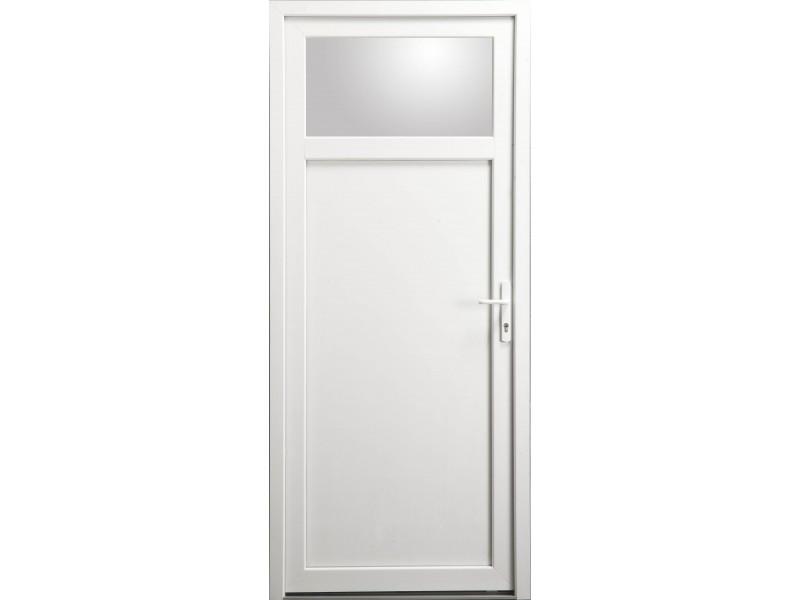 porte de service occulus en pvc blanc 205 x 080 cm On porte de service pvc blanc