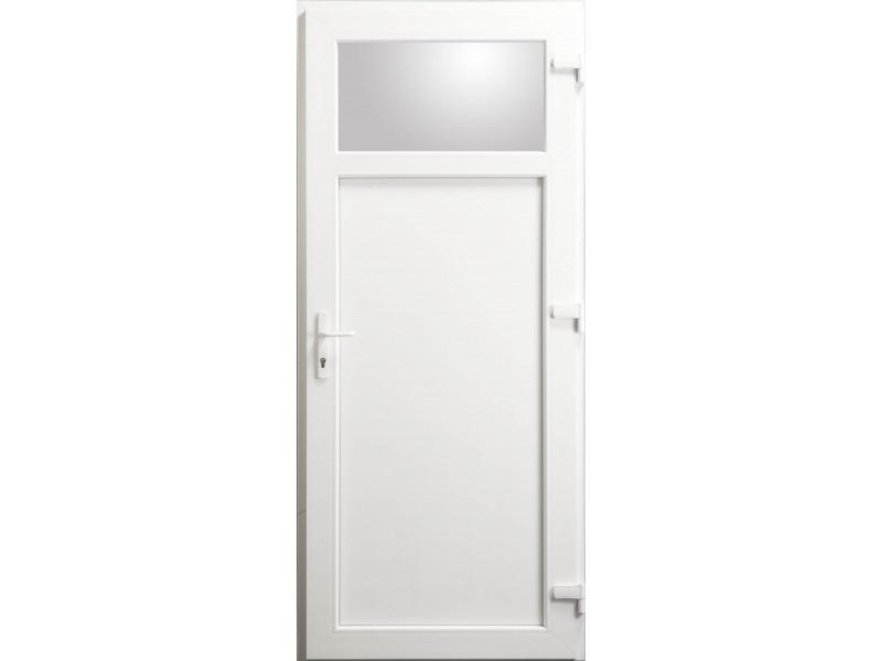 porte de service occulus en pvc blanc 205 x 080 cm. Black Bedroom Furniture Sets. Home Design Ideas