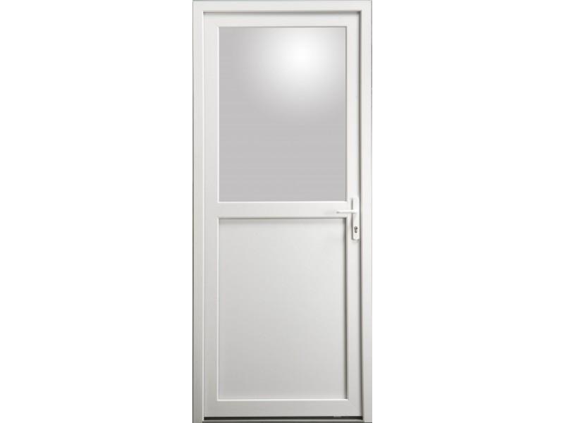 Porte De Service En PVC Blanc X Cm Avec Vitre Clair - Porte avec vitre