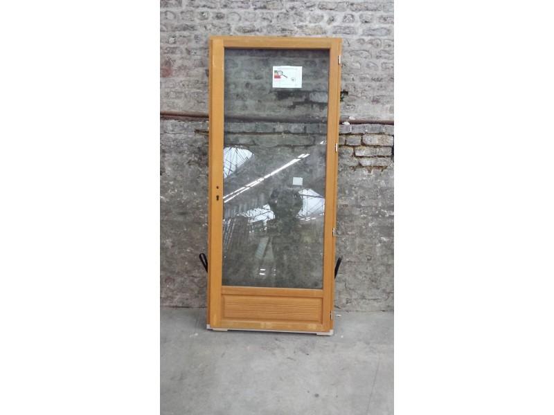 Porte Fenêtre En Bois Exotique 1 Vantail Tirant Droit H215 X L90 Cm