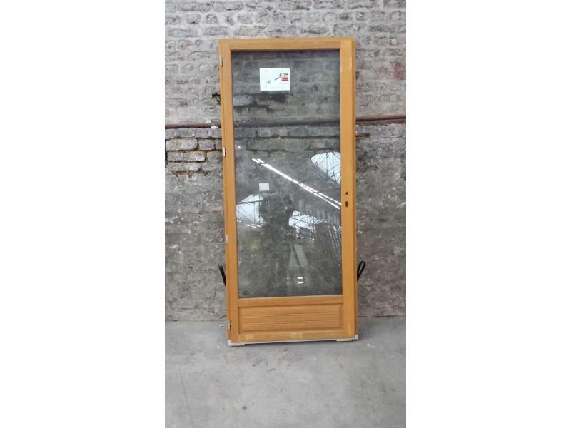 Porte Fenêtre En Bois Exotique 1 Vantail Tirant Gauche H215 X L90 Cm