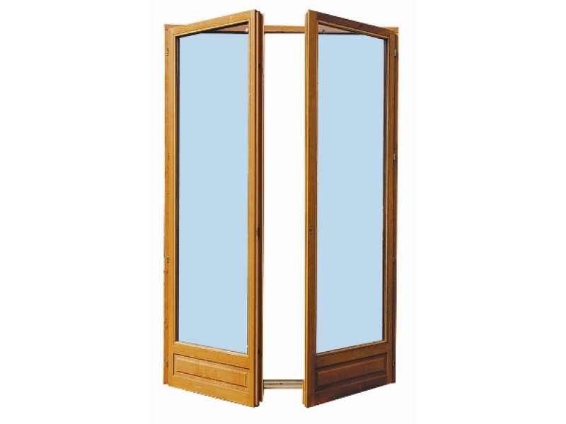 Porte Fenêtre 2 Vantaux En Bois Exotique H205 X L100 Cm Pas Cher