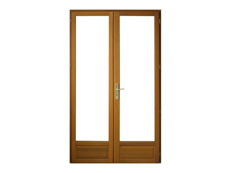 Porte Fenêtre 2 Vantaux En Bois Exotique H215 X L120 Cm Pas Cher