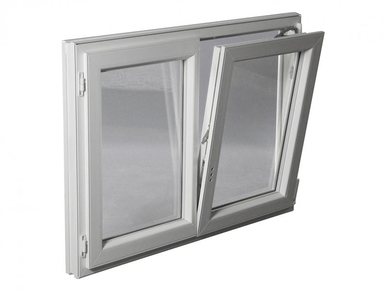 Fenêtre Pvc Gamme Epro 2 Vantaux Oscillo Battante H 145 X L 100 Cm