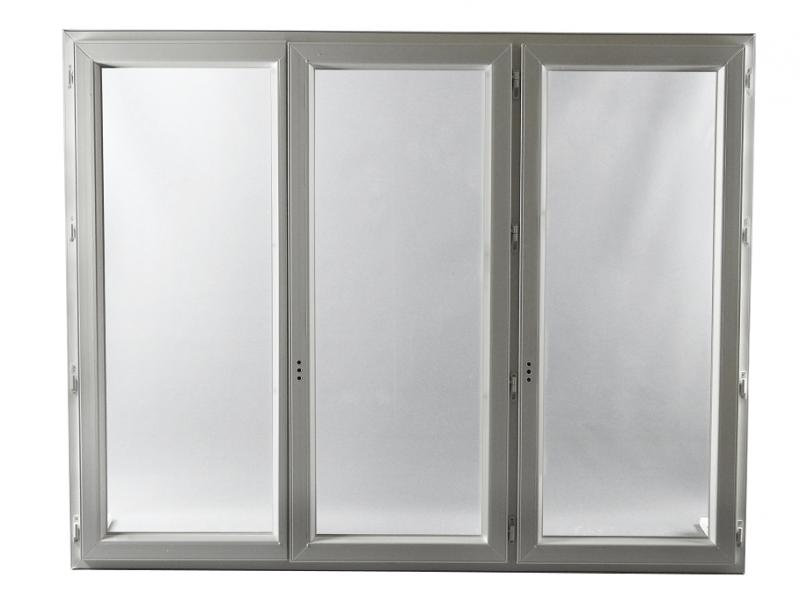 fen tre pvc gamme e pro 3 vantaux h 115 x l 180 cm. Black Bedroom Furniture Sets. Home Design Ideas