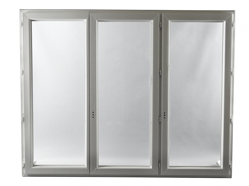 Fen tre pvc gamme e pro 3 vantaux h 145 x l 180 cm - Porte fenetre 3 vantaux pvc ...