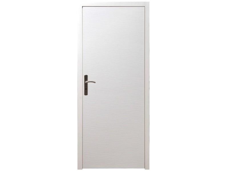 Bloc Porte Intérieur Structuré H204xl73cm Poussant Droit