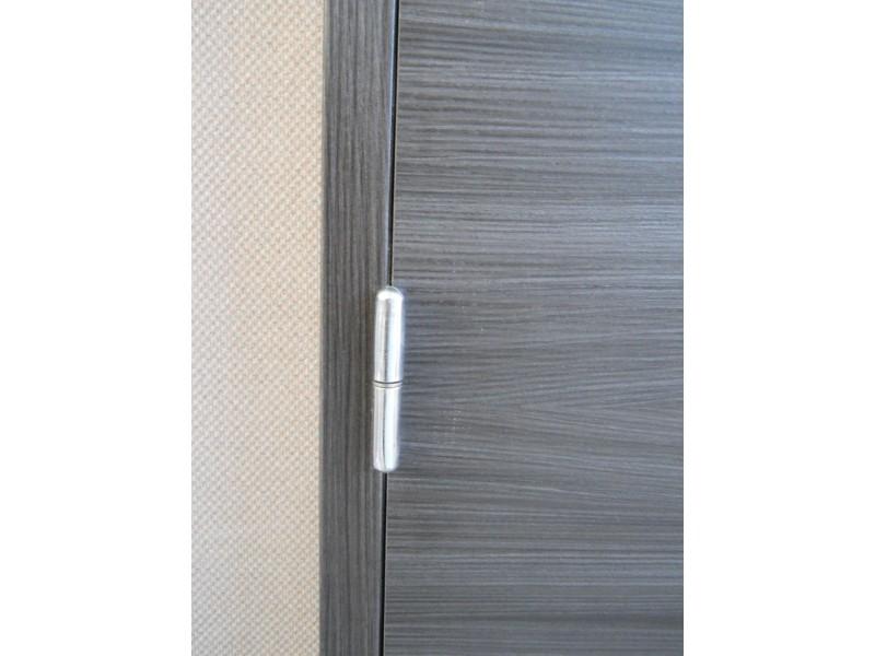 Bloc-porte intérieur mélaminé noir-ébène 204x73 cm poussant droit
