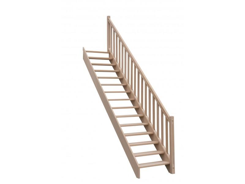 Escalier Droit Sans Contremarche H272xr276cm