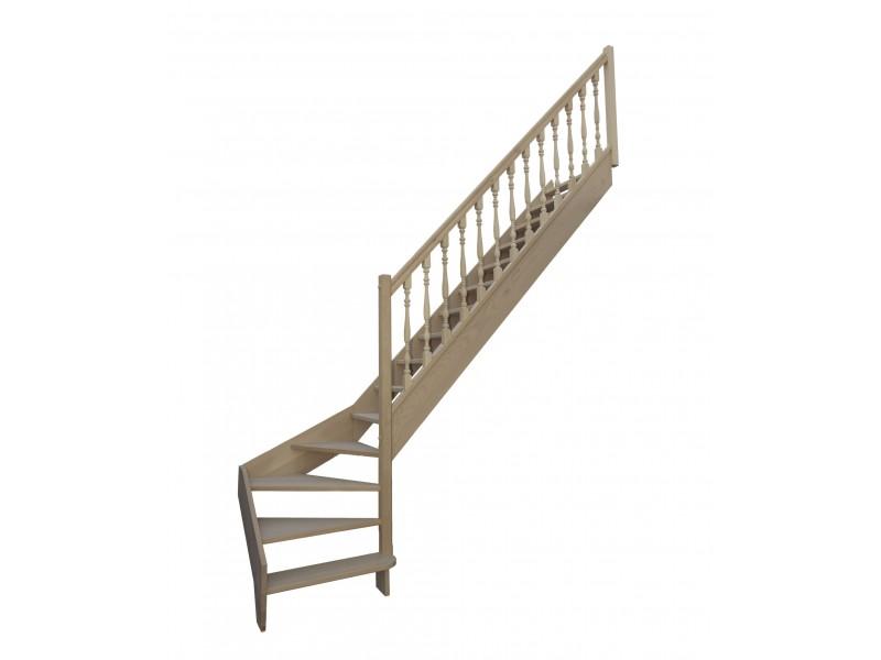 Escalier 1 4 Bas Droit Sans Contremarche H280xr255cm