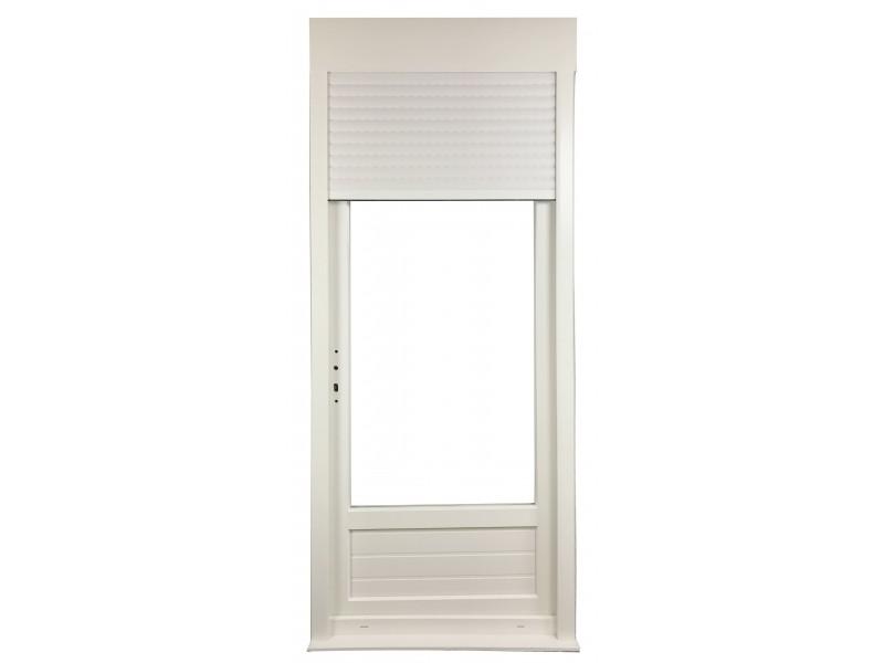Porte Fenêtre 1 Vantail En Pvc H215xl80cm Volet Roulant Intégré