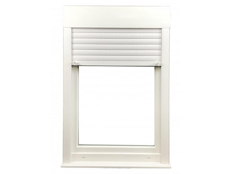 Fenêtre 1 vantail en PVC H95xL60cm, volet roulant intégré ...