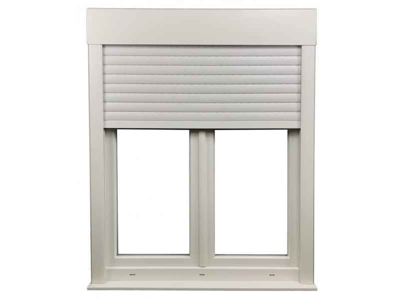 Fenêtre 2 Vantaux En Pvc H115xl100cm Volet Roulant Intégré