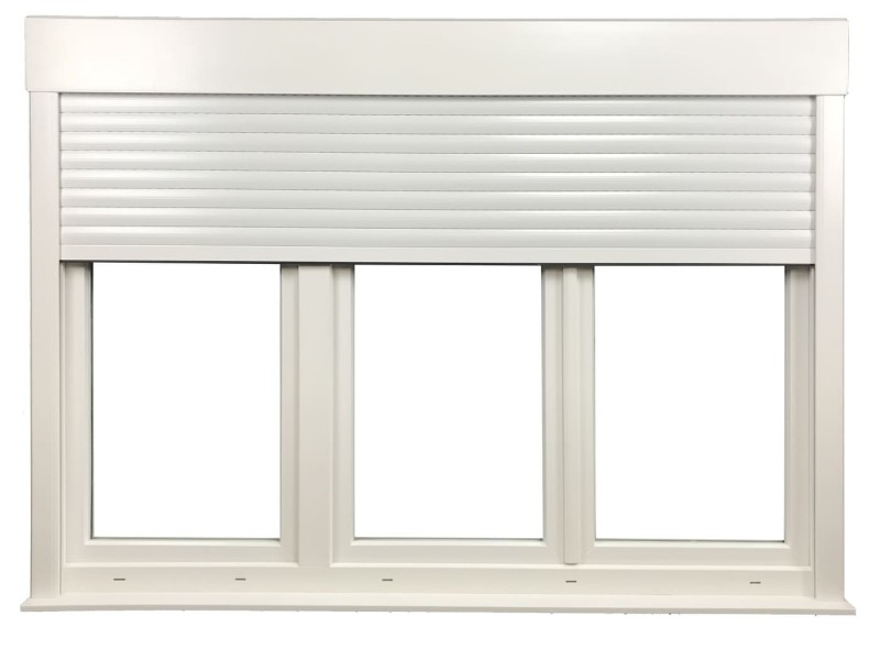 Fenêtre 3 Vantaux En Pvc H115xl180cm Volet Roulant Intégré