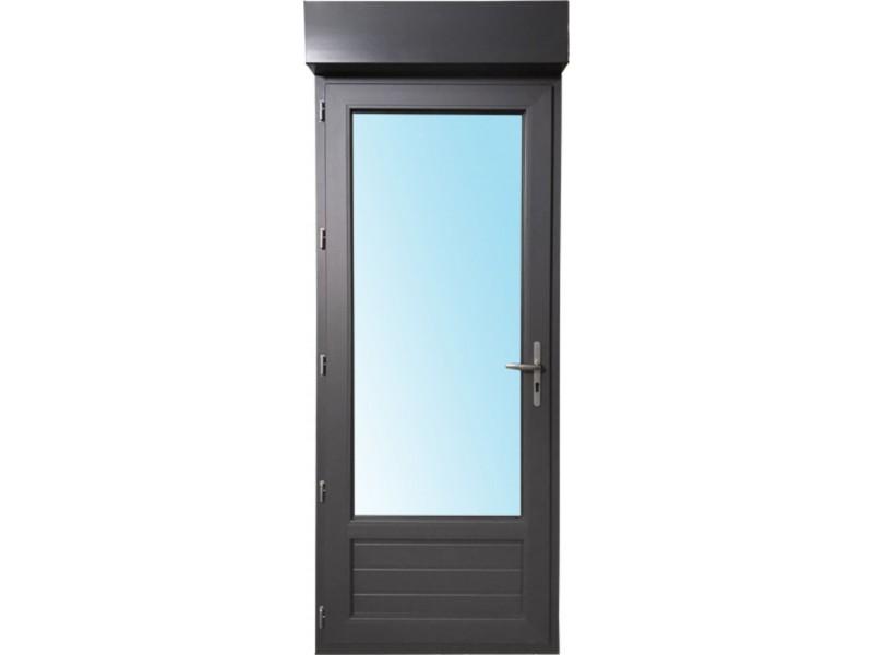 Porte Fenêtre 1 Vantail En Pvc H215xl90cm Volet Roulant Intégré