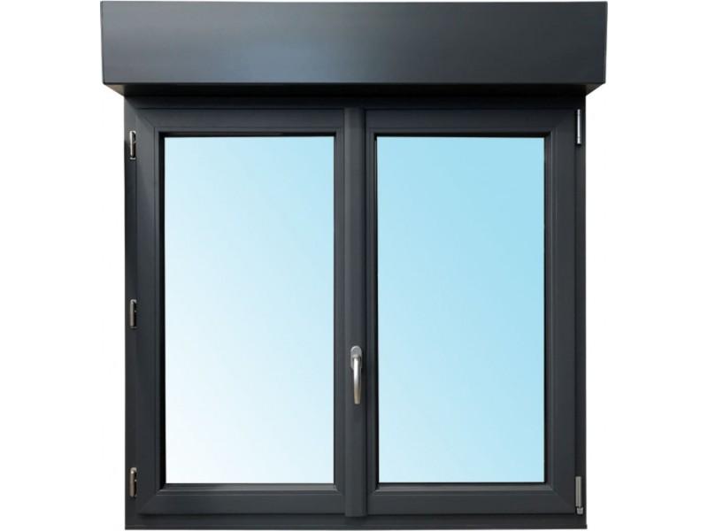 Fenêtre 2 Vantaux En Pvc H135xl140cm Volet Roulant Intégré