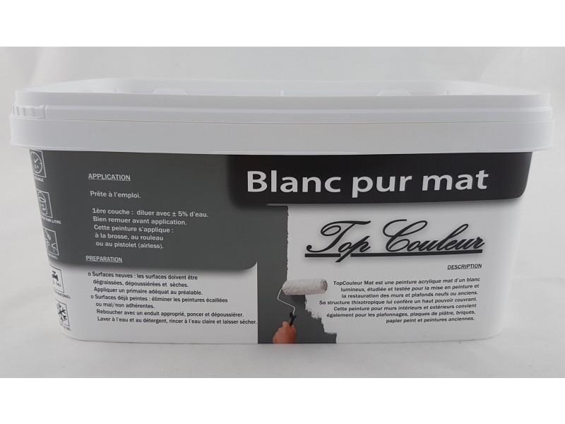 Peinture Top Couleur Blanc Mat 25l