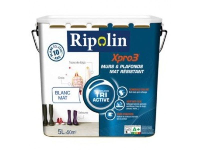 Peinture Murs Plafonds Blanc Mat Résistant Xpro3 Ripolin Tri Active