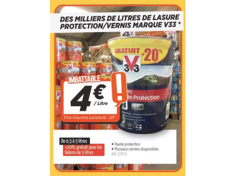 Lasure Protection Vernis Marque V33