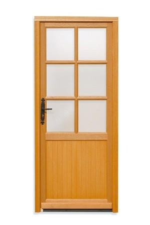 porte de service bois capucine poussant droit h200xl80cm. Black Bedroom Furniture Sets. Home Design Ideas