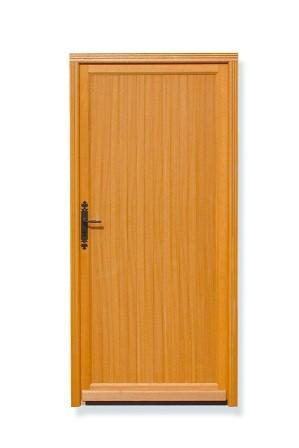 Porte de service bois muguet poussant droit h200xl80cm for Porte de service bois exterieur