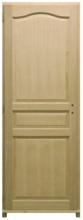 bloc porte plaqu ch ne 3 panneaux h204xl63cm poussant droit. Black Bedroom Furniture Sets. Home Design Ideas