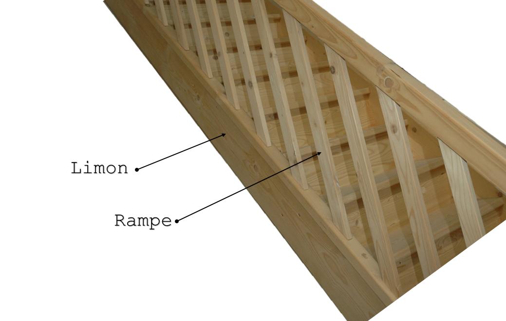 c t s limons rampe escalier droit en kit. Black Bedroom Furniture Sets. Home Design Ideas