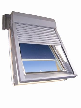 volet lectrique pour fen tre de toit h78xl55cm pas cher. Black Bedroom Furniture Sets. Home Design Ideas