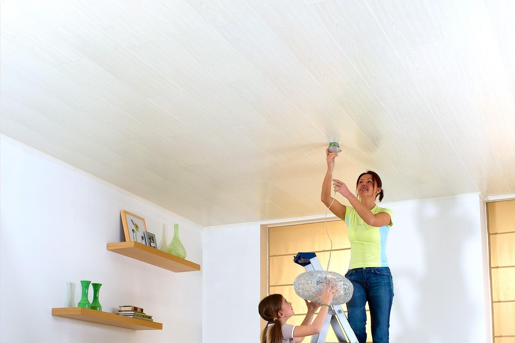 Lambris Ceruse Blanc Pas Cher lambris murs et plafonds à clipser blanc cerusé 120 x 25 cm