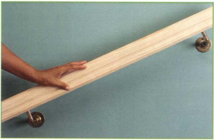 Main courante en bois 60 cm sans vernis