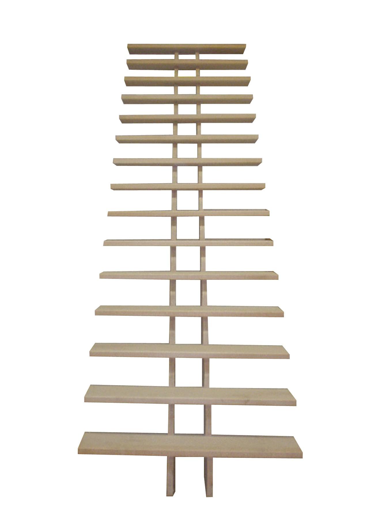 Escalier droit en h tre cr maill re en kit h272cm for Profondeur marche escalier standard