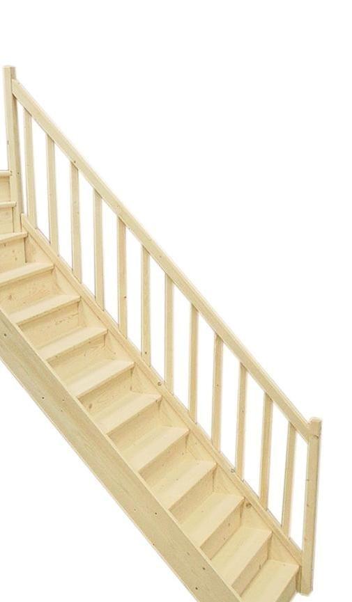 rampe pour escalier droit en sapin pas cher achat vente. Black Bedroom Furniture Sets. Home Design Ideas