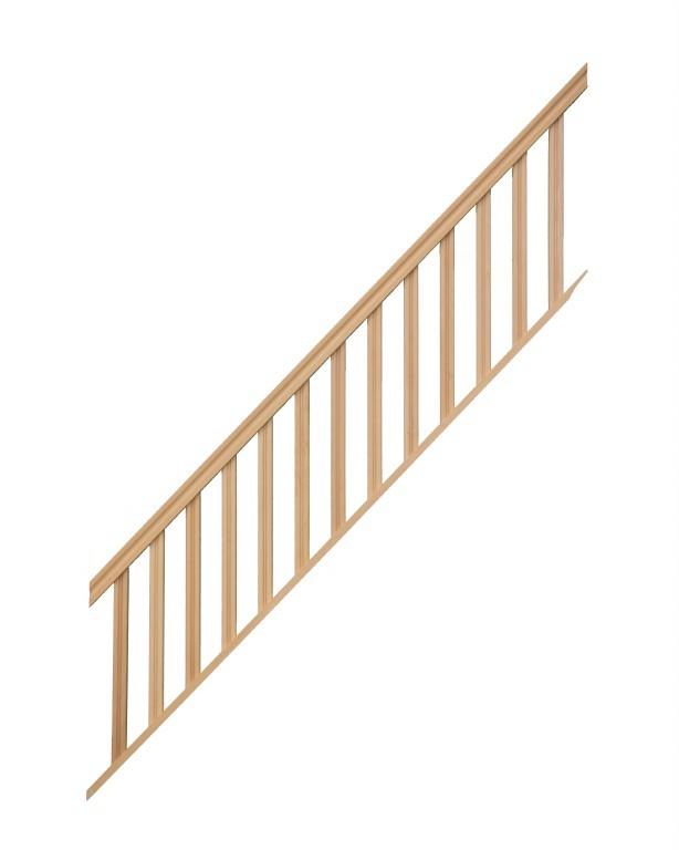 rampe pour escalier droit hauteur 300 cm balustres. Black Bedroom Furniture Sets. Home Design Ideas