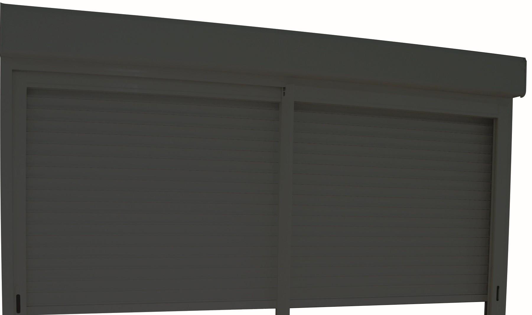 volets roulants gris pour baies coulissantes aluminium h215- l240
