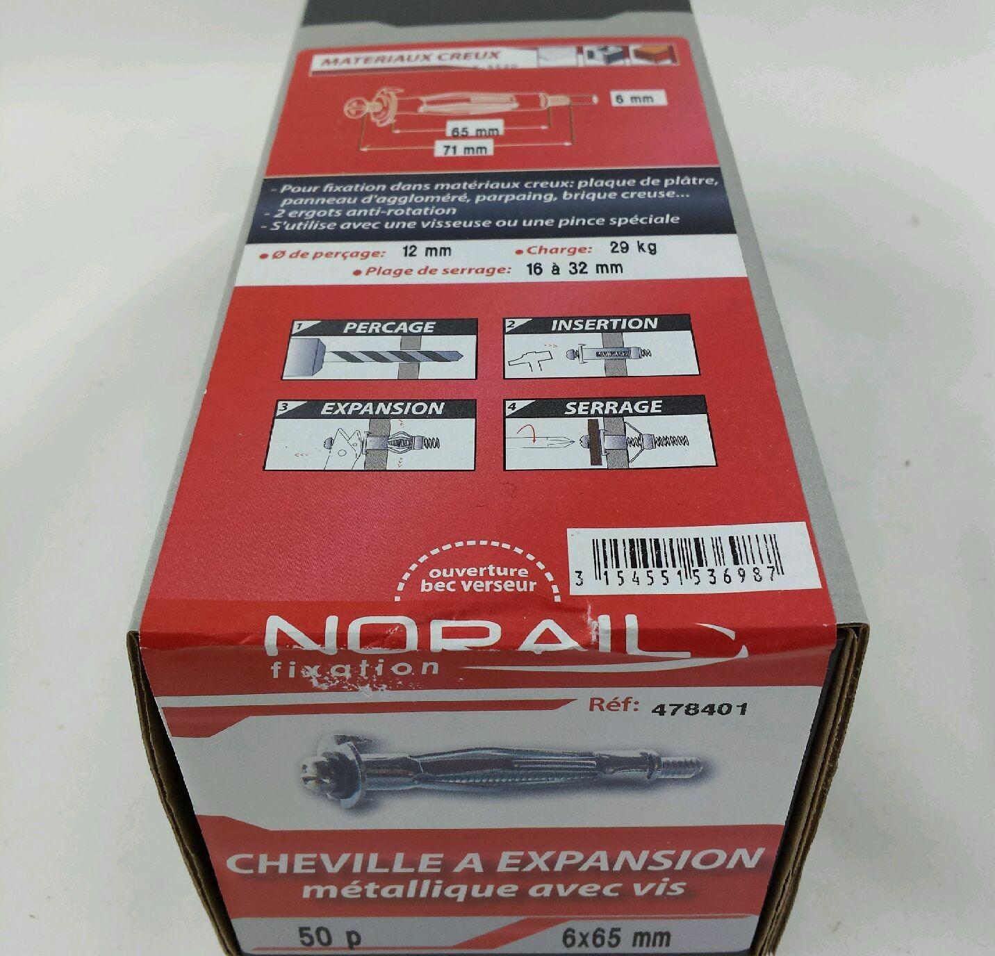 Cheville a expansion l65xdi6mm - Cheville a expansion ...